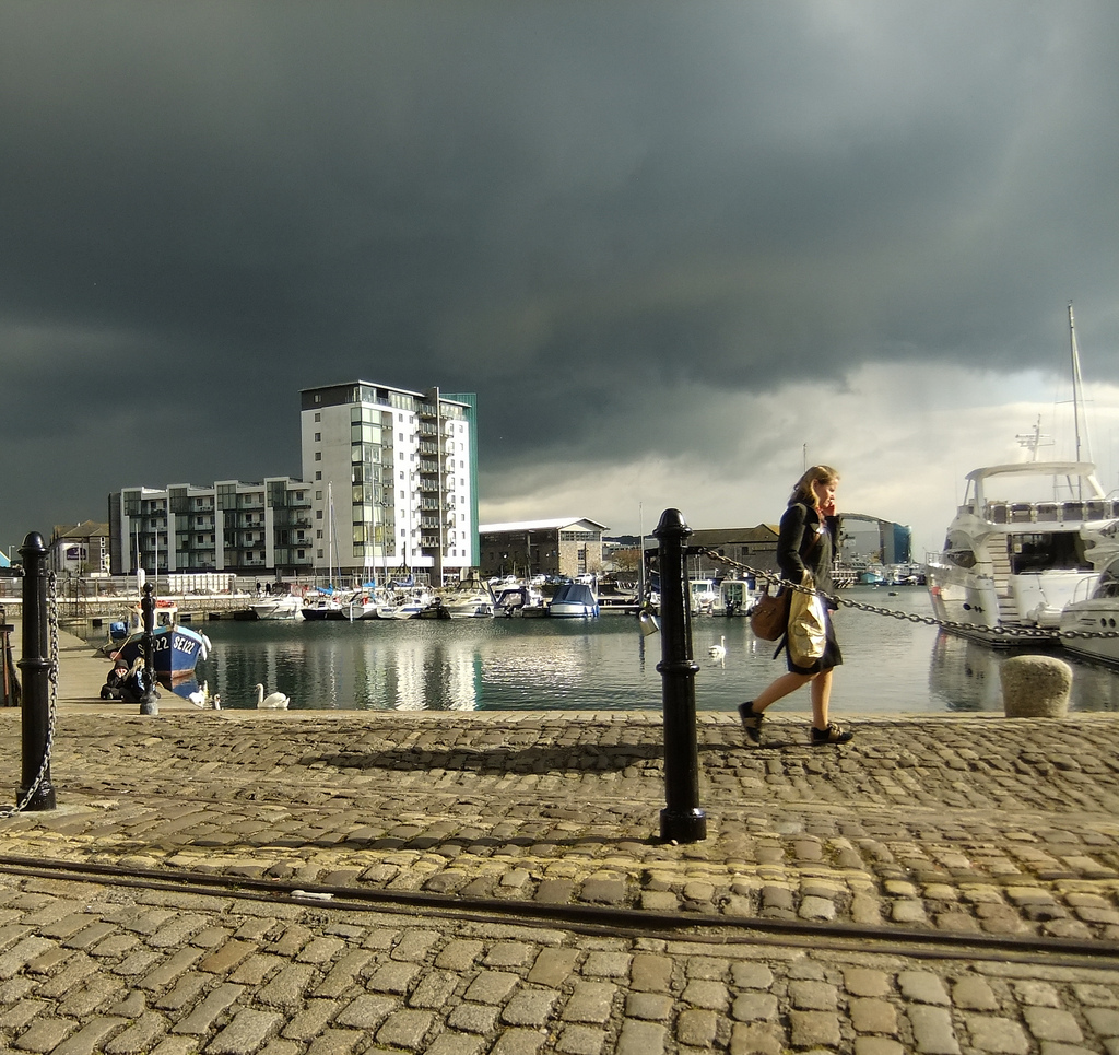 Sutton Harbour -April Storm -Must rush!