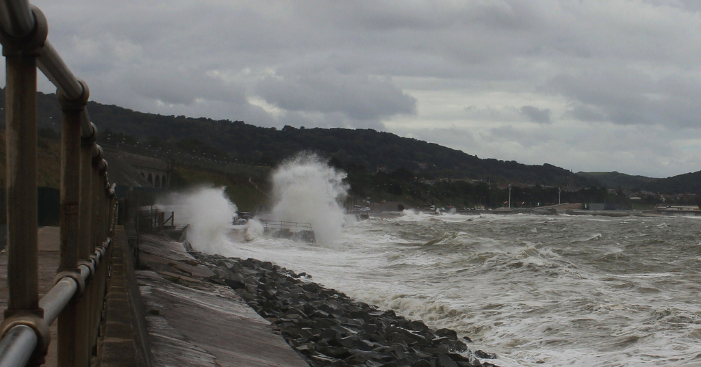 Rough sea at Colwyn Bay